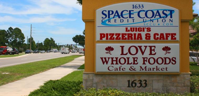 Taylor Road Signage - Space Coast Plaza