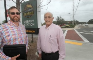 Steve Costa, Principal of NAI Realvest Charles Wayne, and Charles Lichtigman, Chairman of Charles Wayne Properties, are involved in a deal to build apartments and a mixed-use project across US 17-92 from the DeBary SunRail station.